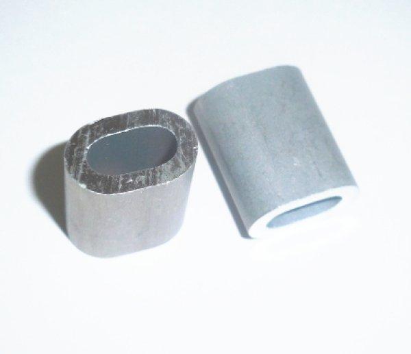 画像1: アルミWクランプ管 4ミリ 100個 (1)