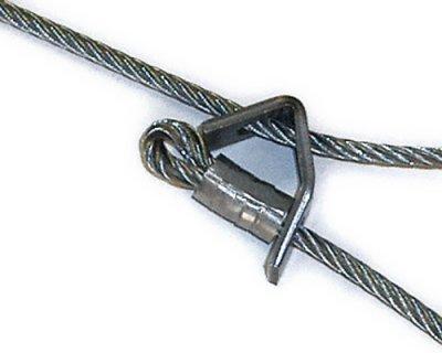 画像1: ワイヤー戻り止め金具(ステンレス製)